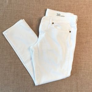 J. Crew white toothpick jeans size 30 ankle